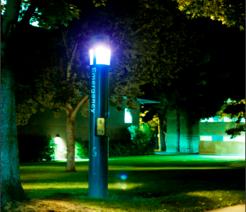 Emergency blue-light systems scattered around campus going unused by students
