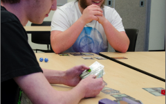 Barto RA, Cody Taylor, gathers students with Magic: The Gathering