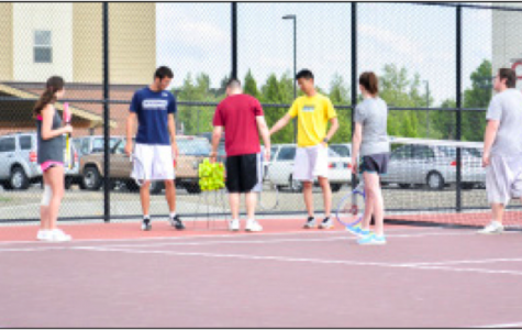 Central's newly renovated tennis courts open