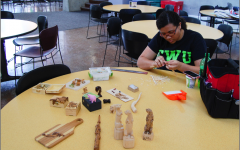 CWU student Kailonna Crawford's woodcarving contributes to campus community