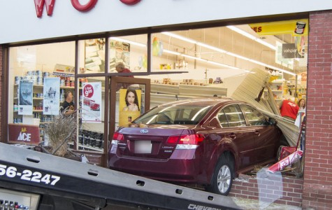 Car crashes into Woods Hardware, no injuries reported