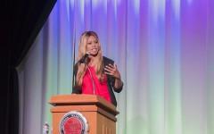 Laverne Cox speaks in SURC Ballroom