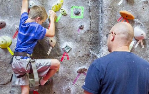 Kid's rock climbing event a hit with kids and parents