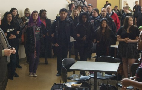 Students protest racism on Central's campus