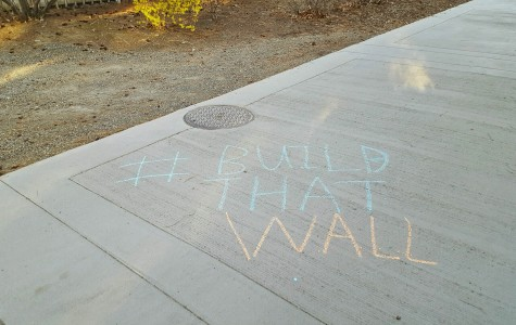 Chalking it up in support of The Donald