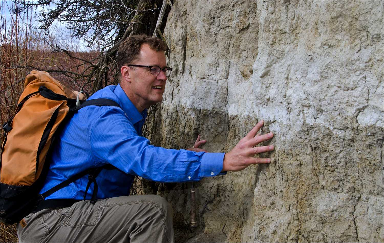 Nick Zentner, CWU geology professor, often works in the field and is active in the local geology community.