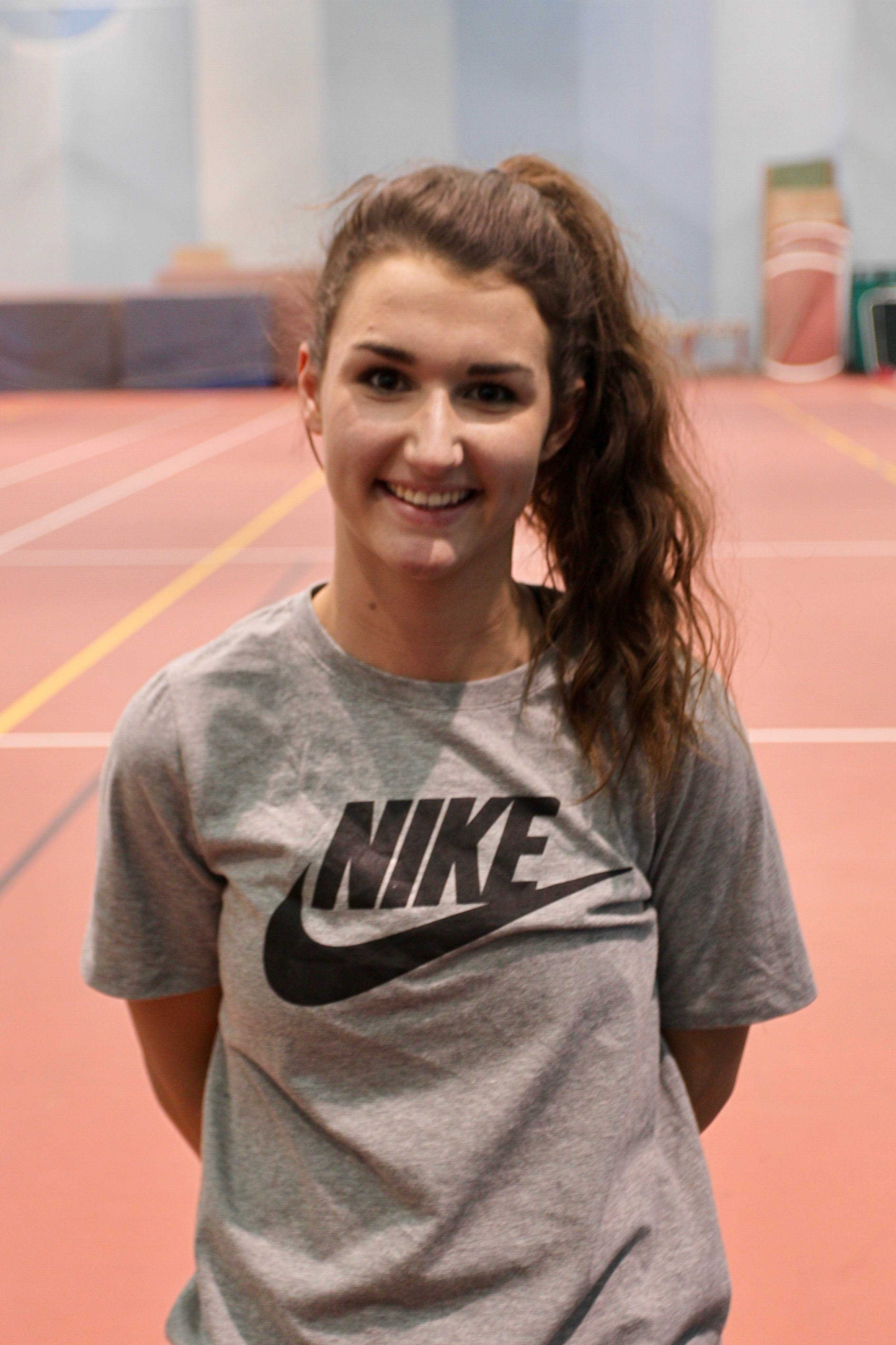 Junior Ali Anderson is looking to get to nationals in the 800-meter after earning a national provisonal time of 2:15.99 over the weekend.
