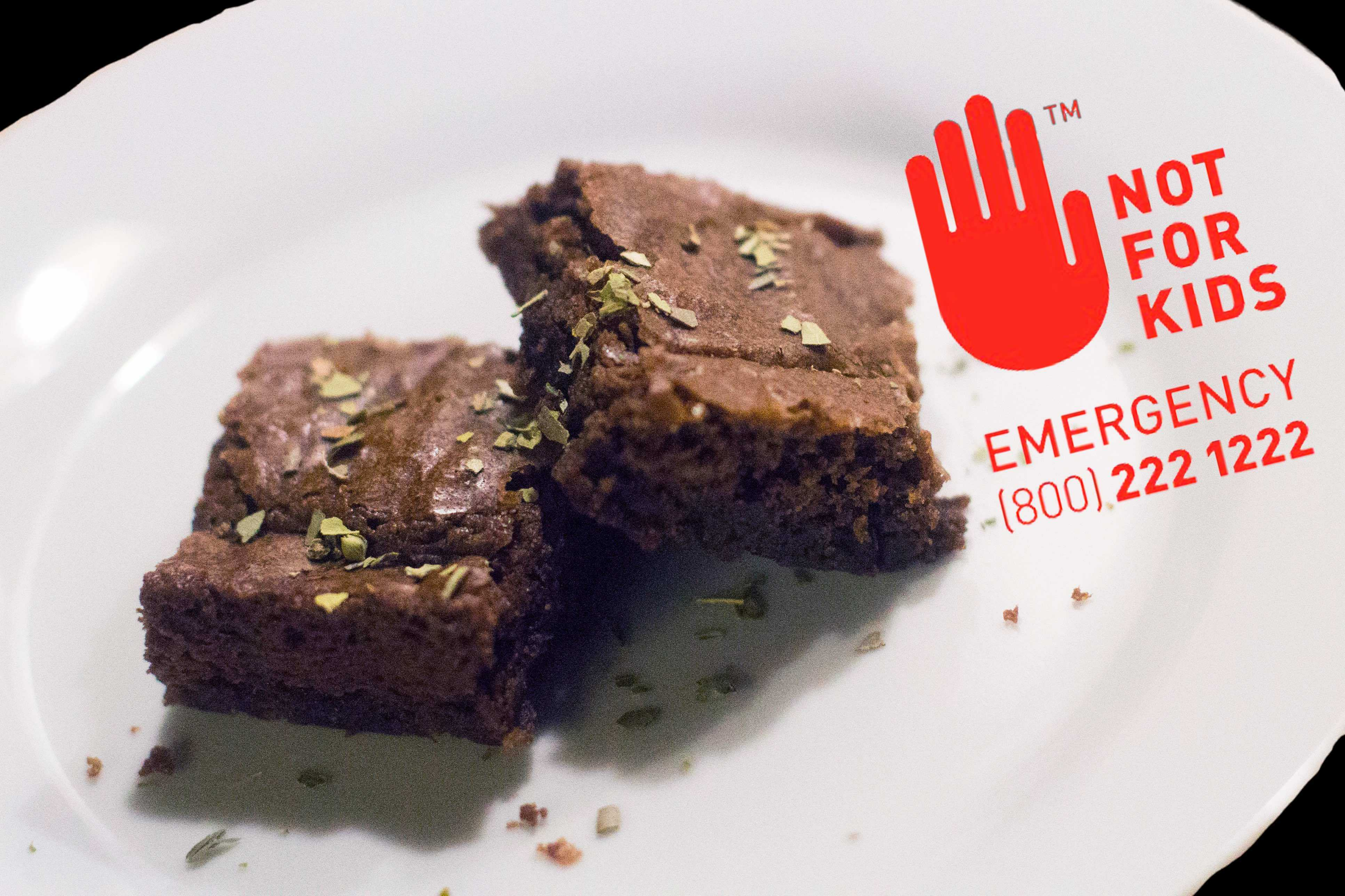 Pot brownies (pictured here) and other edibles must now have
