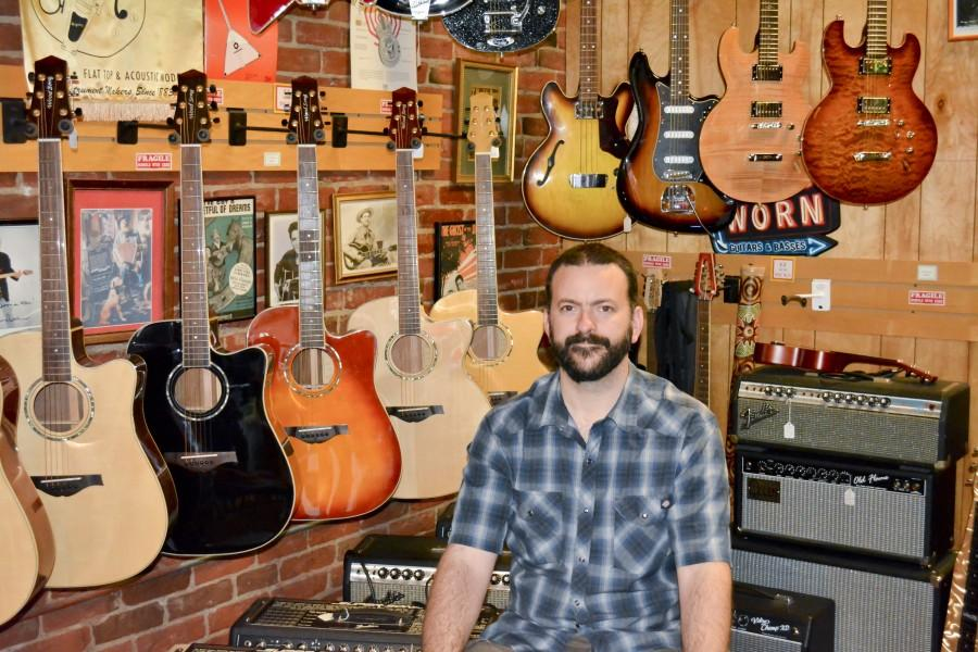 Scene: Brandon Brooks, dedicated Boogie Man Music employee of 12 years, developed a passion for fixing guitars