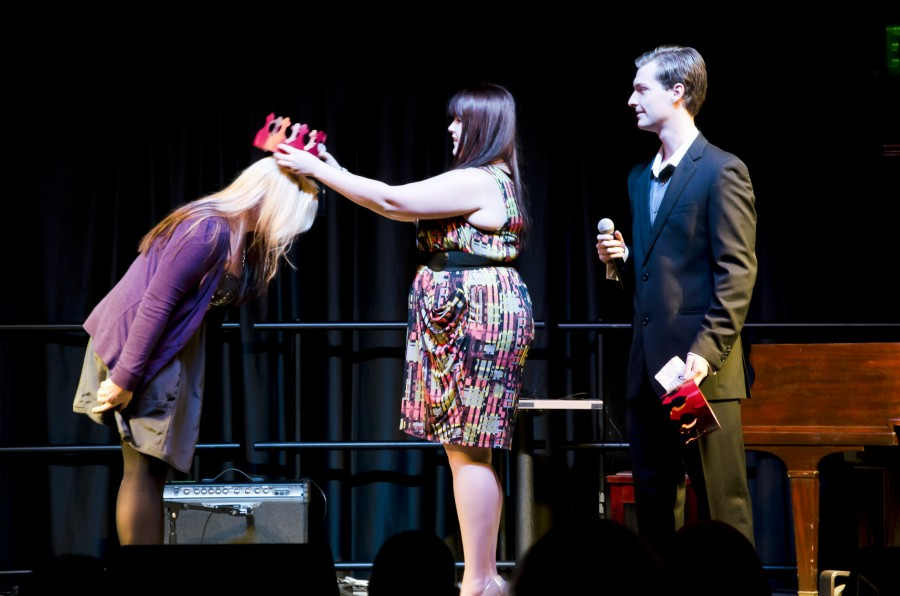 Scene: Music duo Schuettke and Hibbard, singer Guss crowned Mr. and Ms. Central during Tuesday night's talent competition