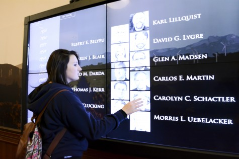 News: $40,000 touch screen in Barge Hall brings past and present professors to life