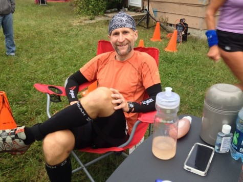 Sports: Tim Englund, chair of the math department, endures 35 consecutive hours of running over 145.8 miles
