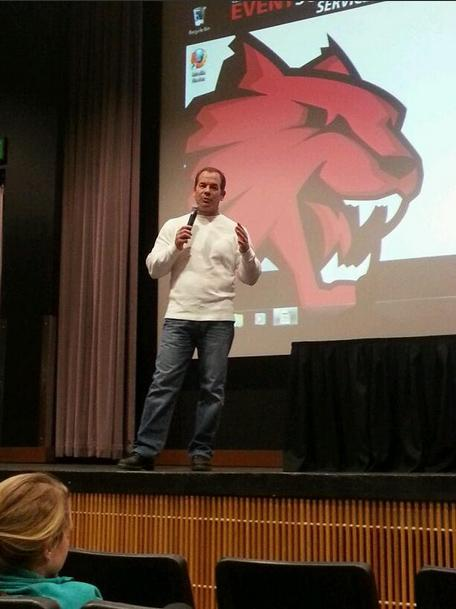King 5 Sports Anchor Paul Silvi encourages Central students to follow their dreams
