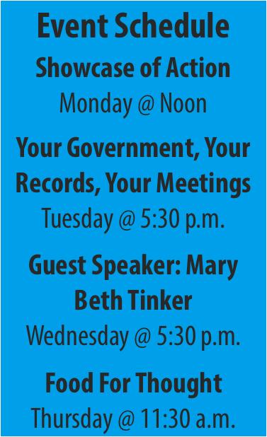 This week: First Amendment Festival