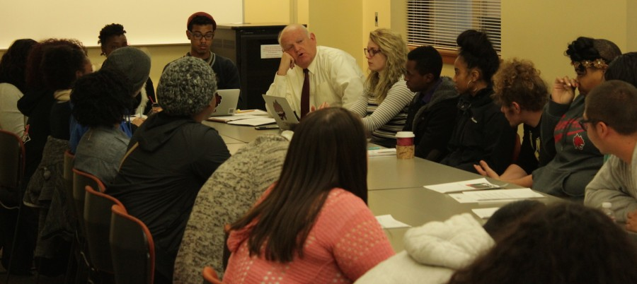 Gaudino met with students on Monday evening to discuss changes
