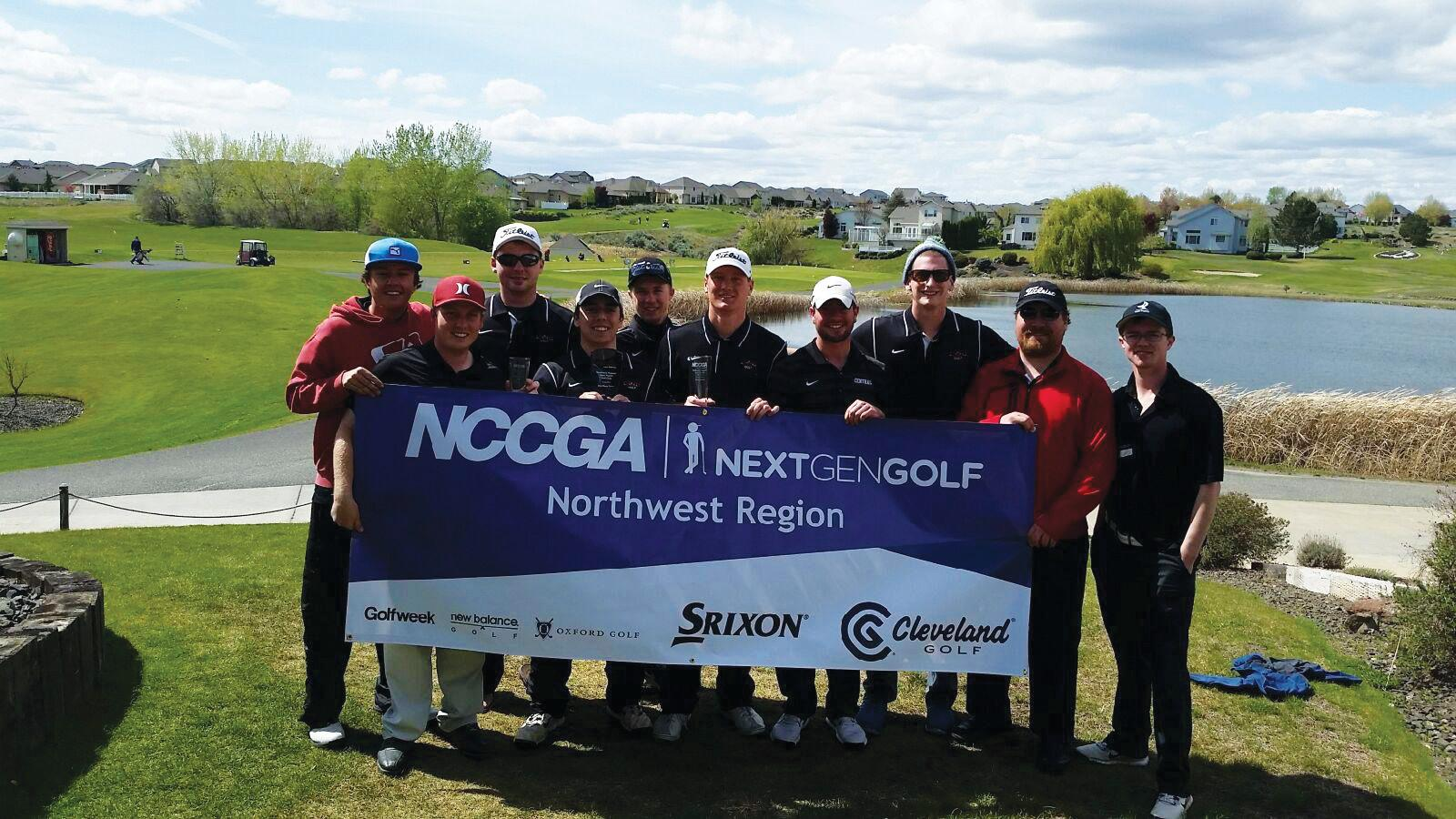 Central's golf team at the NCCGA tournament last spring.