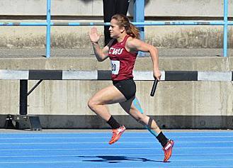 Sprinter battles sickness, runs over CWU records