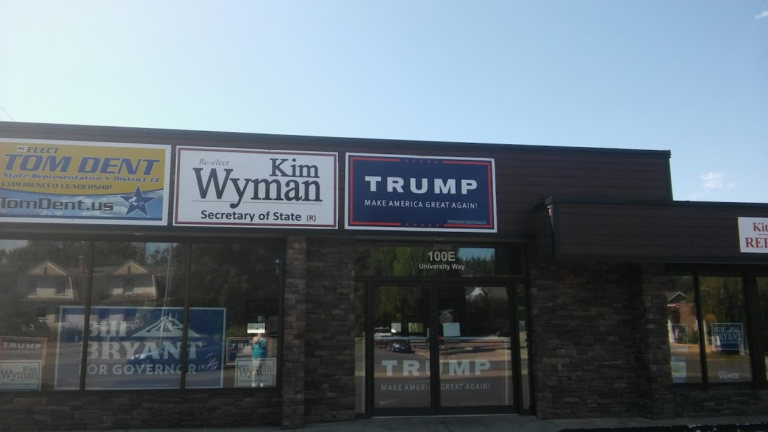 The Kittitas County GOP headquarters is located off University Way near CWU.