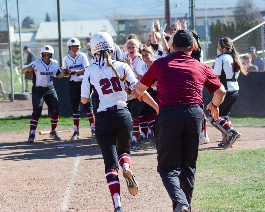 Taylor Ferleman run towards teammates in celebration during the 2016 season. They had plenty to celebrate after winning 42 games.