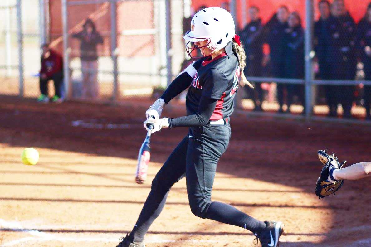 Taylor Ferleman (pictured) going after a pitch. She is one of the seniors leading CWU.