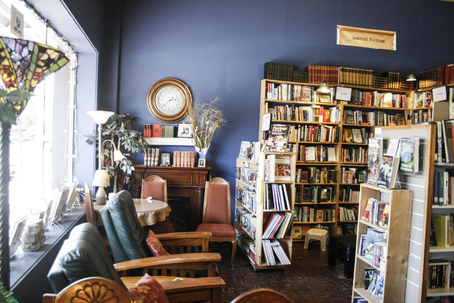 Bailey's Bibliomania's well-known sign features owner John Varner's beagle, Bailey. The relaxing space inside Bailey's has been a mainstay in Ellensburg for 11 years despite three previous moves to different locations.
