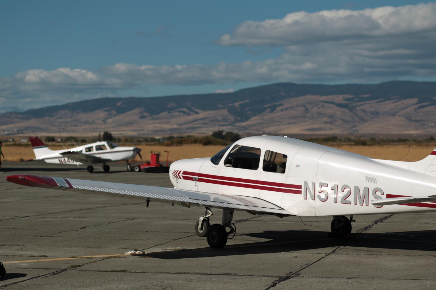 Two of the seven CWU Aviation planes rest on the tarmac ready for students. CWU's Aviation program is striking out on its own to seek national accreditation.