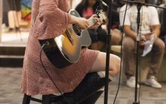 Students perform at Open Mic Night