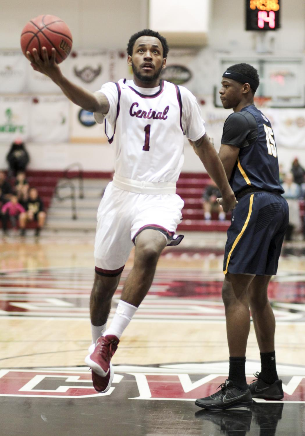 Marc Rodgers looks to the basket during the Oct. 31 game vs. Northwest University