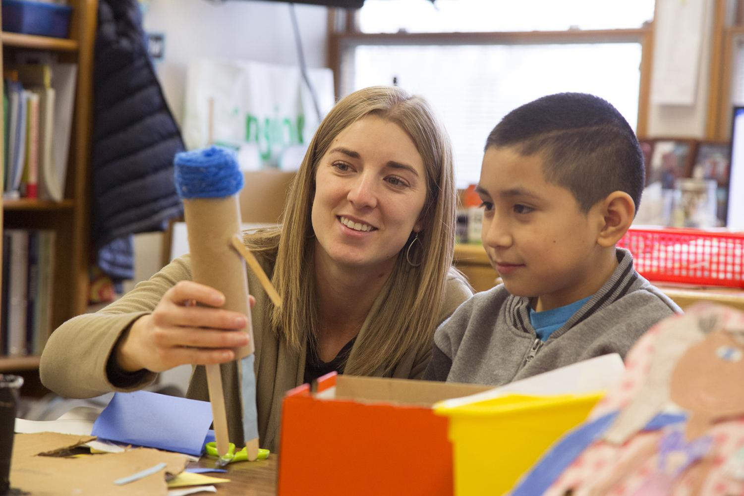 Camille Jones, a CWU alumna, currently teaches STEAM (Science, Technology, Engineering, Arts and Math) courses at Pioneer Elementary School in Quincy, Washington.