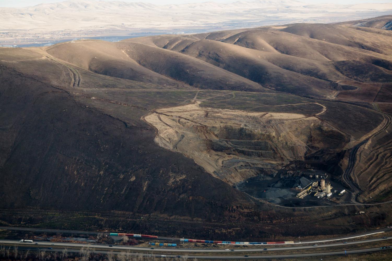 Aerial image of Rattlesnake Ridge, just south of Union Gap, Wash. on Wednesday, Jan. 10 2018. Courtesy of Shawn Gust / Yakima Herald-Republic.