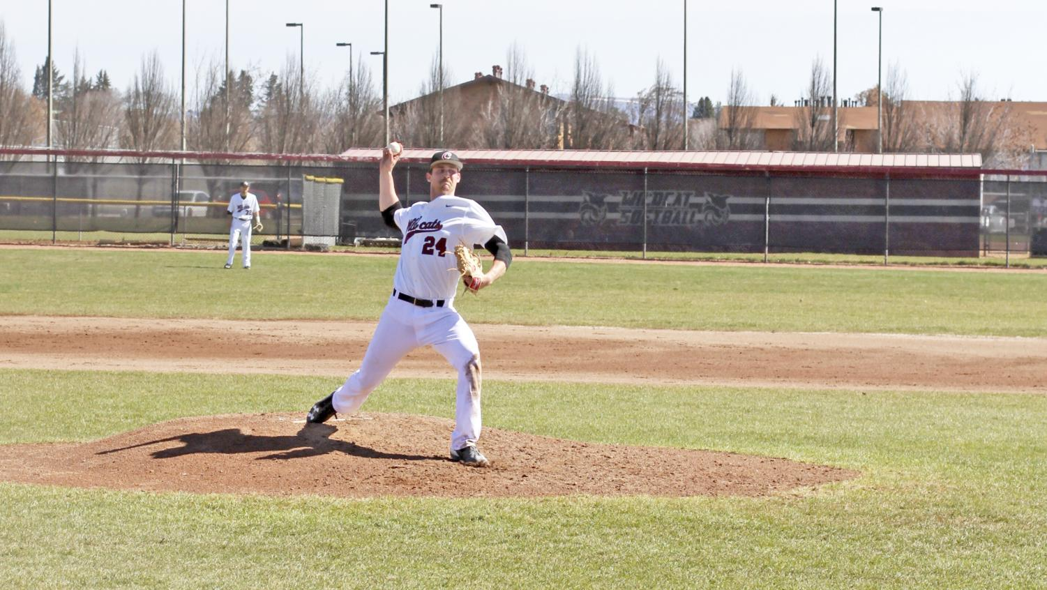 Jacob Forrester winds up a pitch during a game during last season.