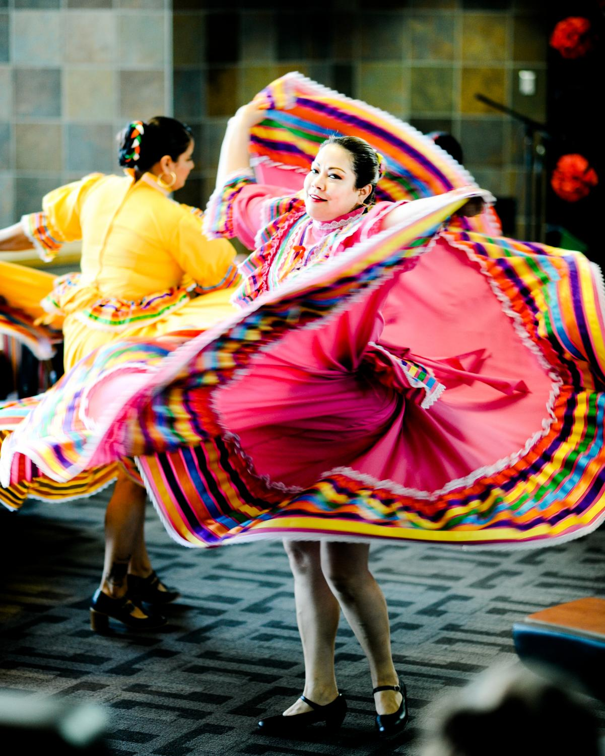 In celebration of Cesar Chavez's birthday, Jalisco dancers performed in the SURC Pit.