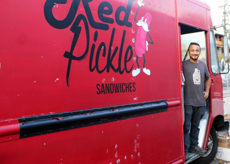 Mario Alfaro is the owner of the Red Pickle food truck.