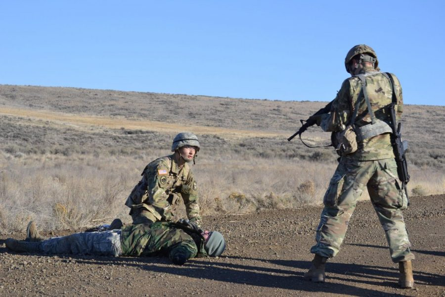 ROTC+finishes+fall+quarter+with+training+in+Yakima
