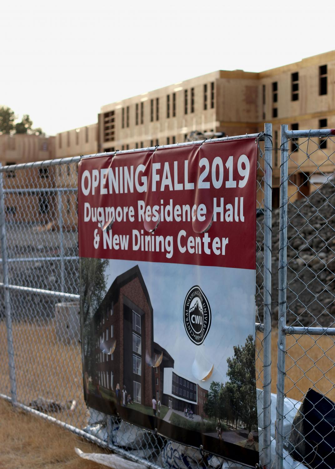 Dugmore Hall is expected to open in fall 2019. Located on noth campus, the hall will provide approximately 400 beds for on-campus housing.