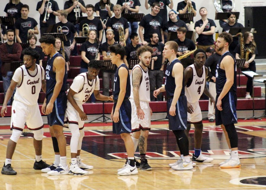 The CWU Men's basketball game vs WWU was a hard fought battle throughout the entire game.