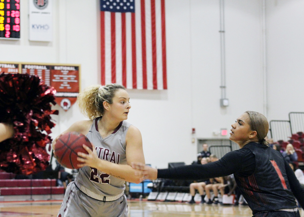 Taylor Shaw, a senior on the women's basketball team, is a fighting force and a major part of the team.
