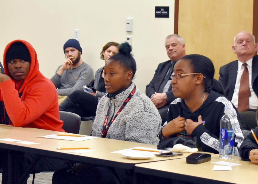 """Students had the opportunity to voice their thoughts, opinions and experiences at the public event, """"Being Black in Ellensburg."""" The event created a safe space for students, faculty, staff and community members to share their stories."""