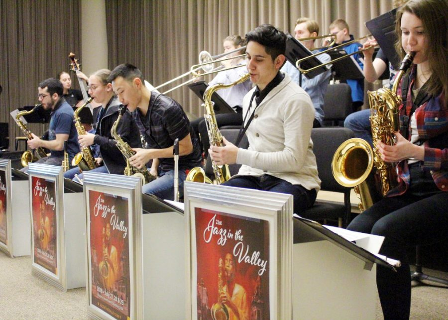 The+Jazz+Band+II+class+has+been+hard+at+work+preparing+many+pieces+for+the+upcoming+jazz+festival.+They+will+be+performing+on+March+ninth.+