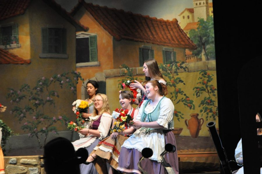 """""""Gondoliers"""" is an operetta written by Gilbert and Sullivan and features a cast of 45-50 students. High quality costumes were rented from a professional theater company for the show."""