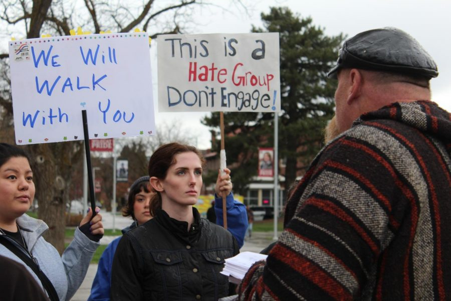 Discussion about free speech on campus sparked by protest