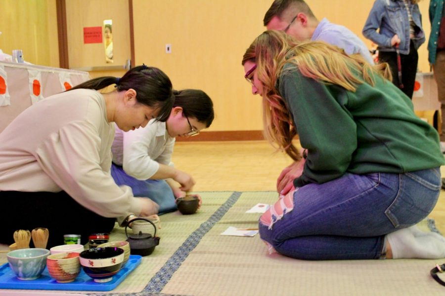 At Sakura Matsuri, Japanese students showed students attending some traditional cooking as well as how it was traditionally made