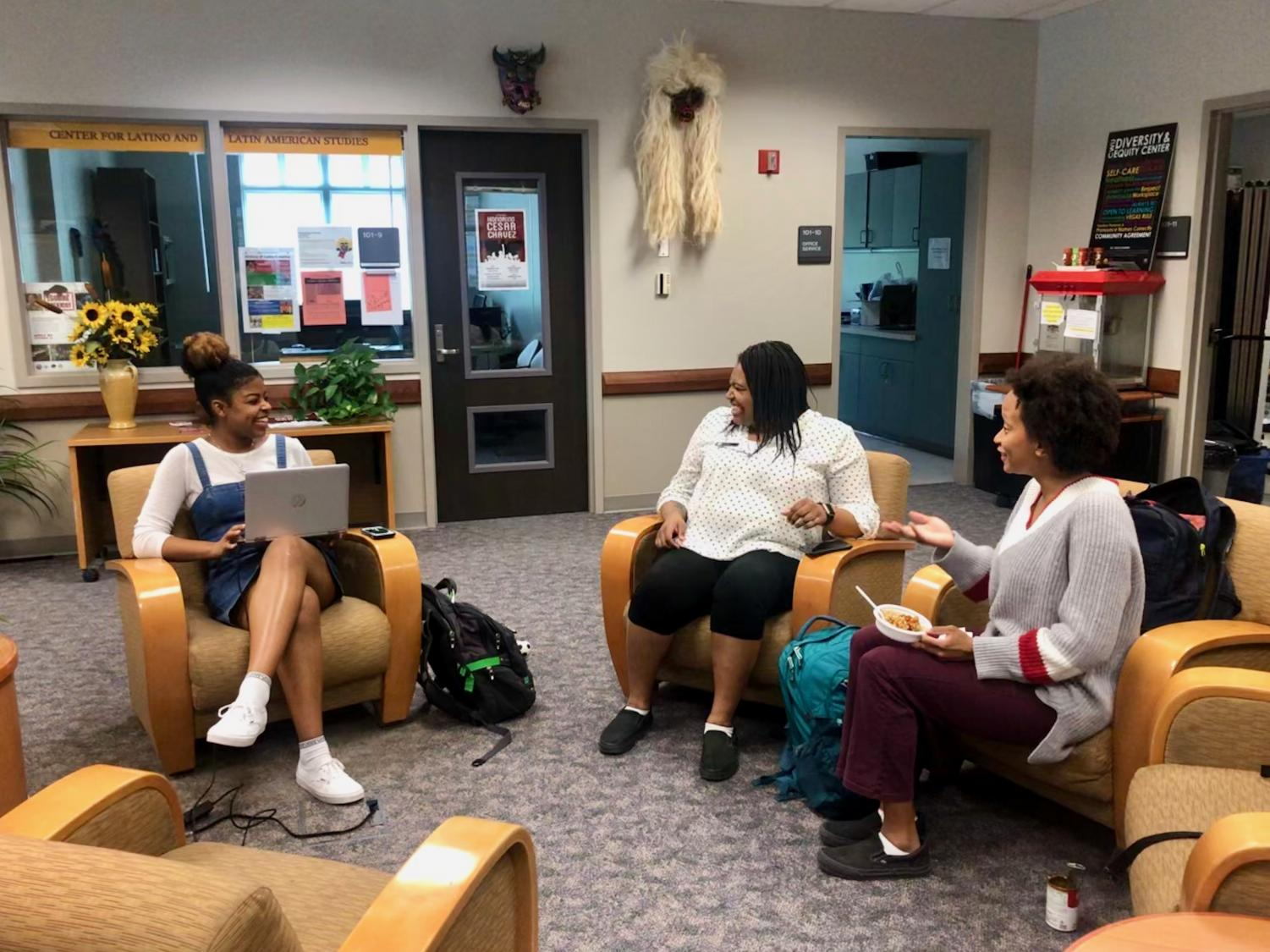 The Diversity and Equity Center is located in room 101 in Black Hall. One of the purposes for the center is to create a safe space for students to socialize and relax before, after and between classes.
