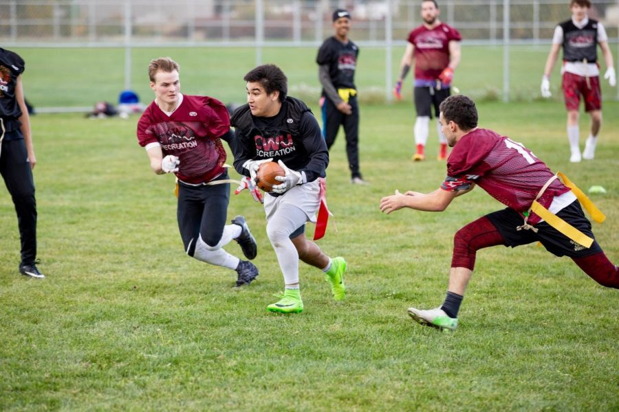 B season of intramural sports began on April. 22. Flag football and volleyball were traded out for softball, outdoor soccer and basketball.