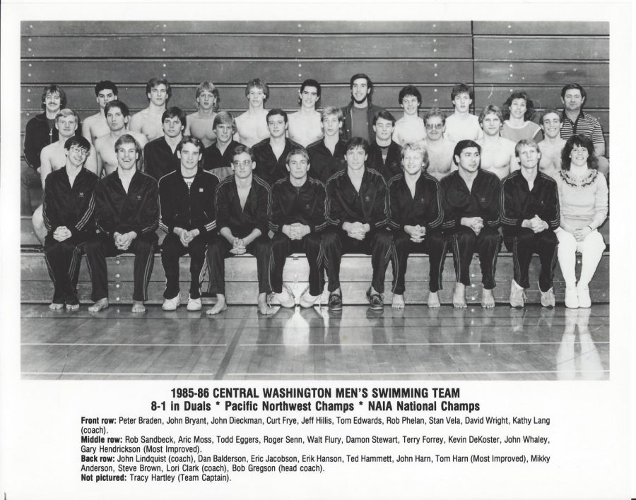 The+1986+NAIA+National+Championship+Men%E2%80%99s+Swimming+Team+finished+their+season+with+381+points+and+eight+national+titles.+They+won+three+relay+races+and+five+individual+titles.+Stan+Vela+was+awarded+outstanding+swimmer.