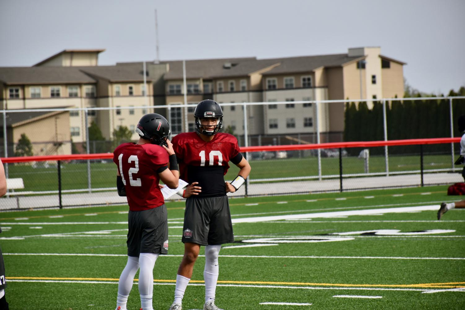 Canon Racanelli, Tai-John Mizutani and Christian Moore are competing for the starting quarterback position for next fall.