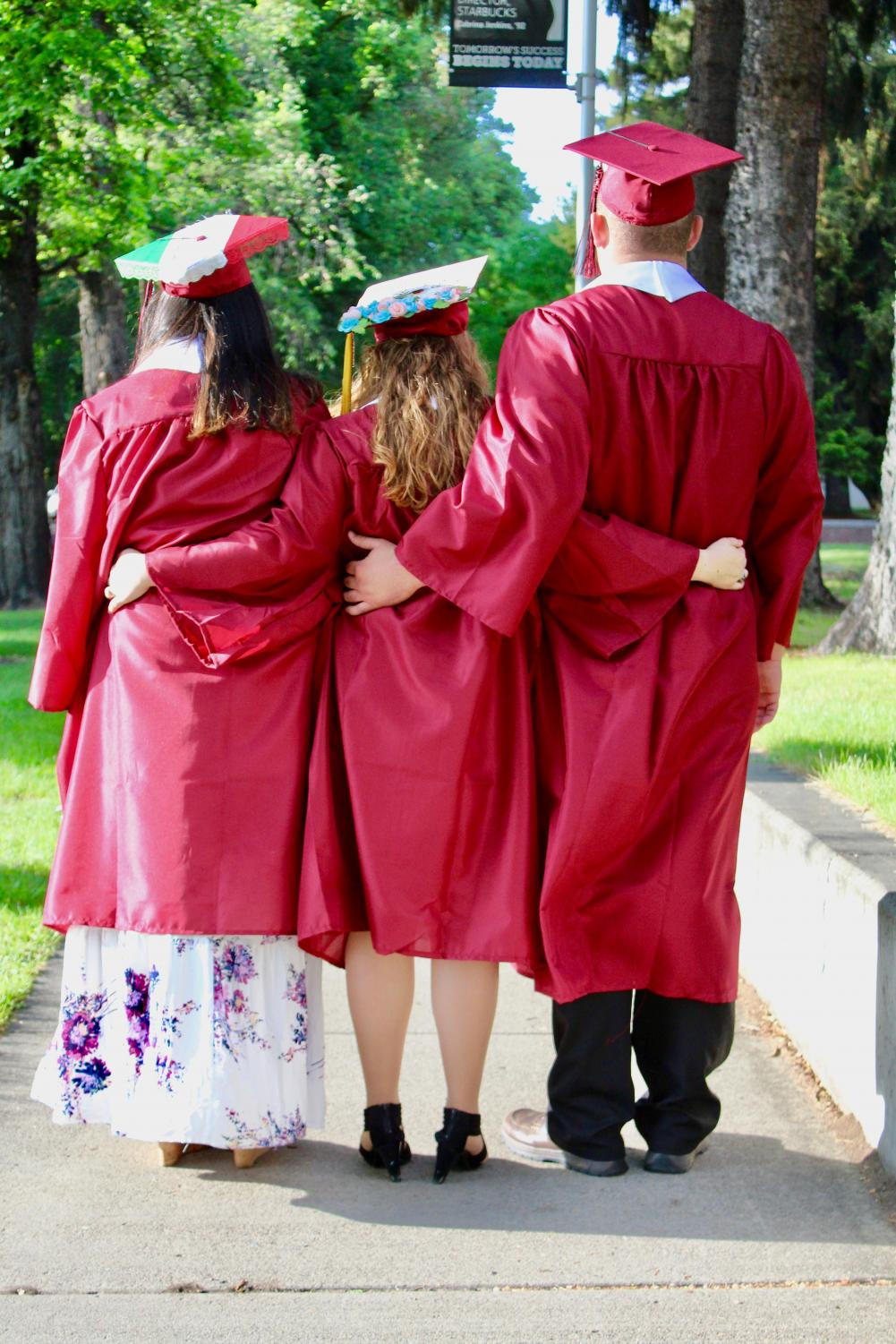 Graduates use commencement as an opportunity to celebrate their accomplishments at college with their friends and family.
