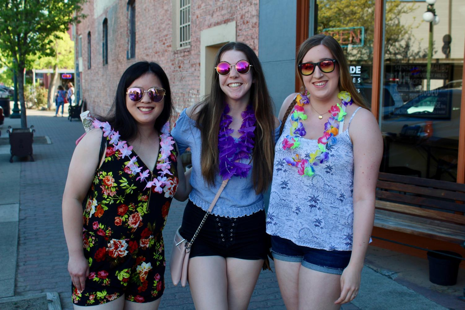 This spring Girls Night Out had a Luau theme. Participating businesses offered leis and Hawaiian-themed beverages. The event is put on twice a year to showcase women in the community as well as local businesses.