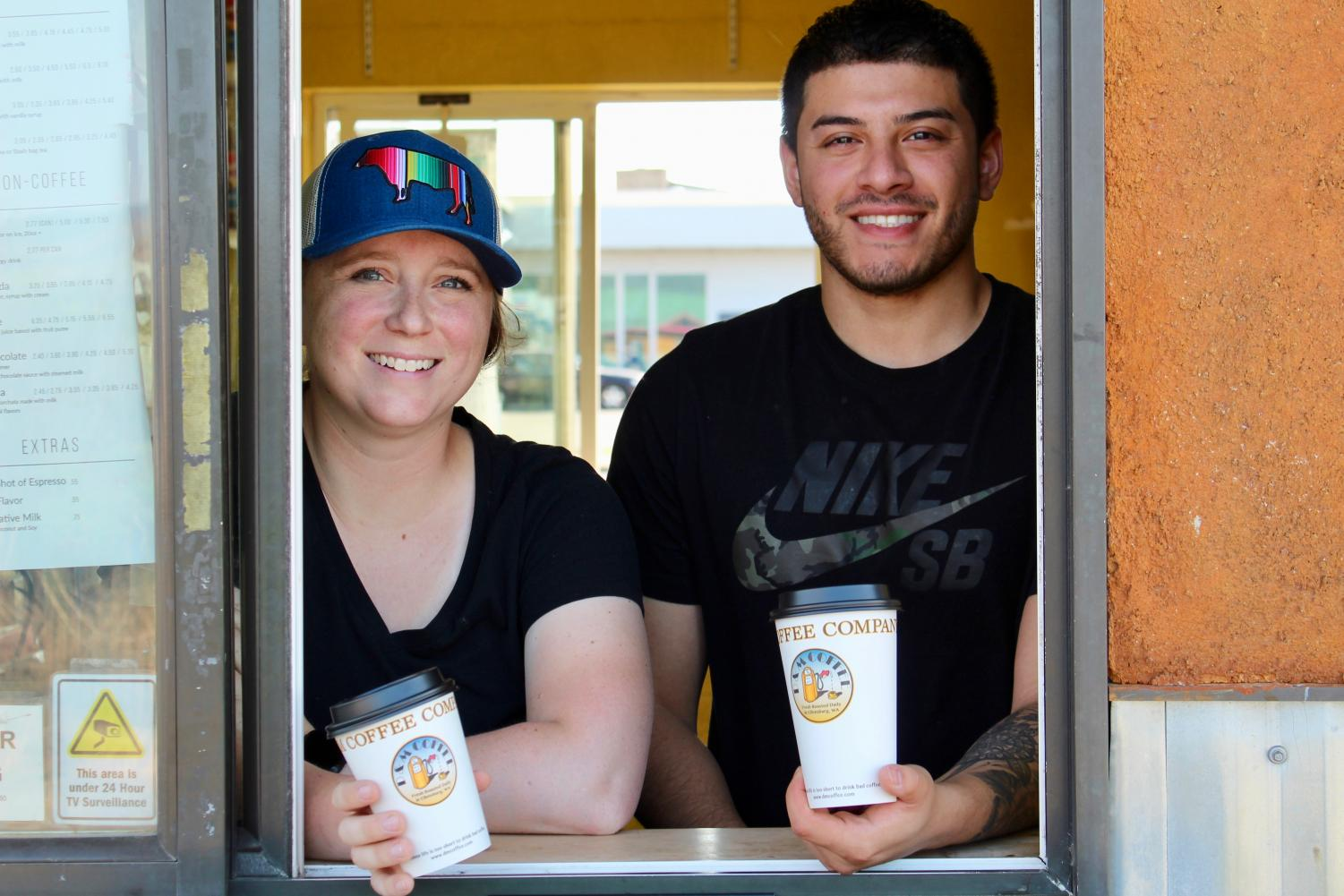 Students have emplyment opportunities both on and off campus during summer. Marketing and supply chain major Kate Dustrude and social work major Isaac Saldana are CWU students who will continue working at D&M coffee over the summer.