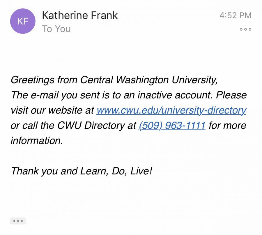 Katherine+Frank%27s+email+is+inactive+hours+after+President+James+J.+Gaudino+sent+an+email+stating+she+would+no+longer+be+the+university%27s+provost.